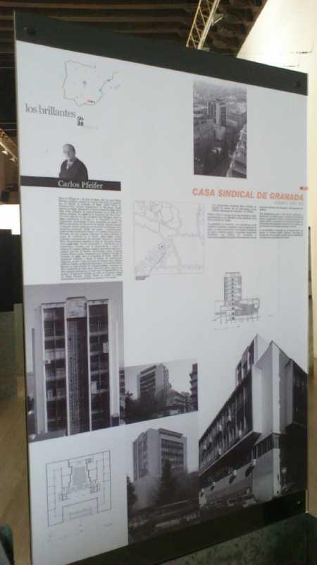 Vista del panel de la Casa Sindical de Granada. Fuente: elaboración propia.