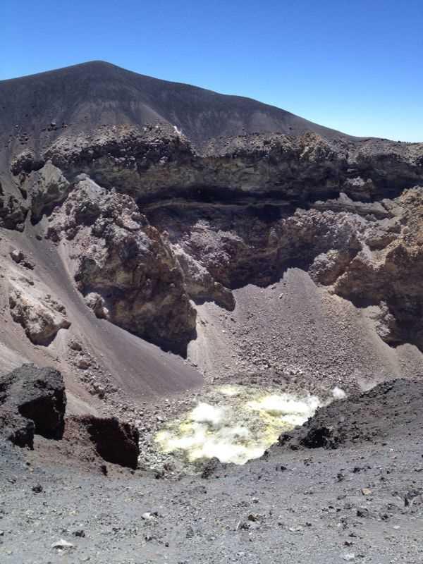 Cráter del Misti.  Fuente: elaboración propia.
