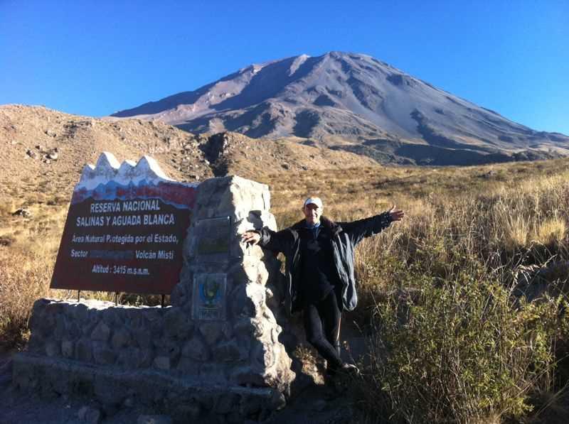 Reserva Nacional Salinas y Aguada Blanca, con el Misti al fondo. Fuente: elaboración propia.