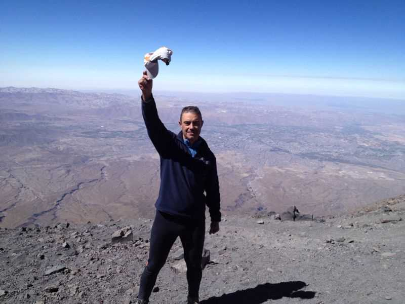 El Misiti, a casi 6.000 msnm.  Fuente: elaboración propia.