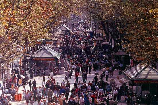 Las Ramblas, Barcelona. Fuente: pps.org