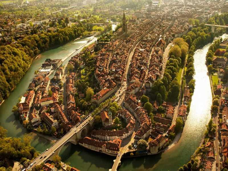 La ciudad suiza de Berna.  Fuente: jotdown.com