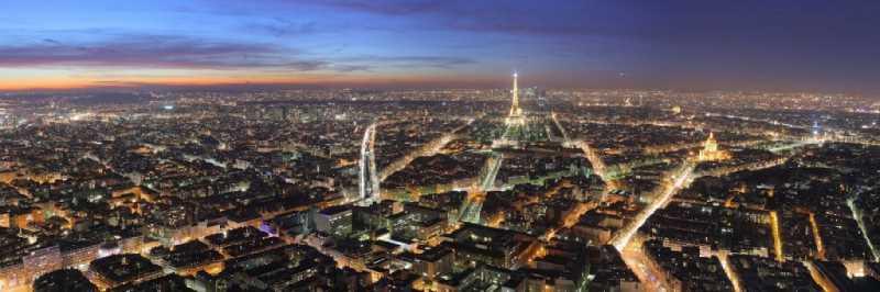 Imagen nocturna de Paris. Fuente; jotdown.es