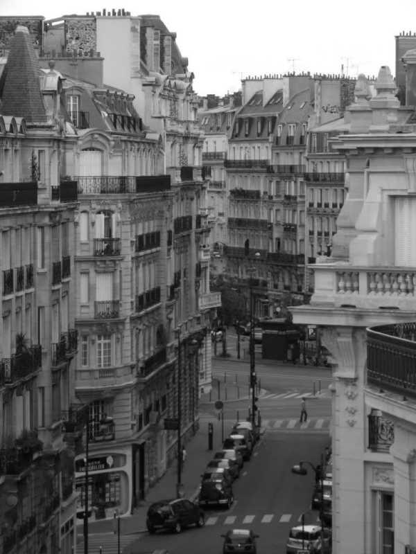 Calle con la configuración tipica de edificios y espacio publico. Fuente: Panoramio