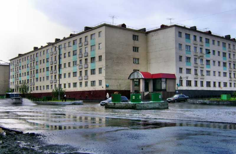Calle de Norilsk. Fuente: Panoramio