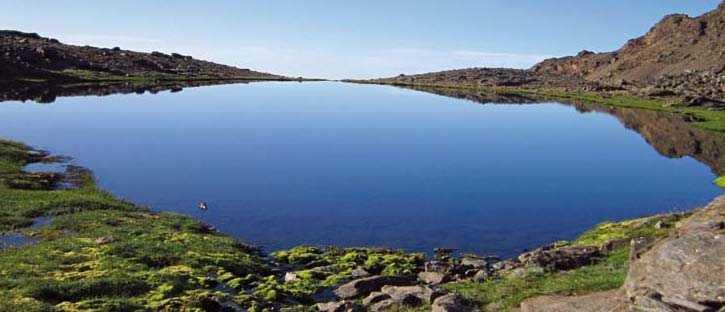 Laguna de aguas Verdes, Sierra Nevada. FUENTE: Observatorio de Cambio Global de Sierra Nevada. Metodología y seguimiento. 2012