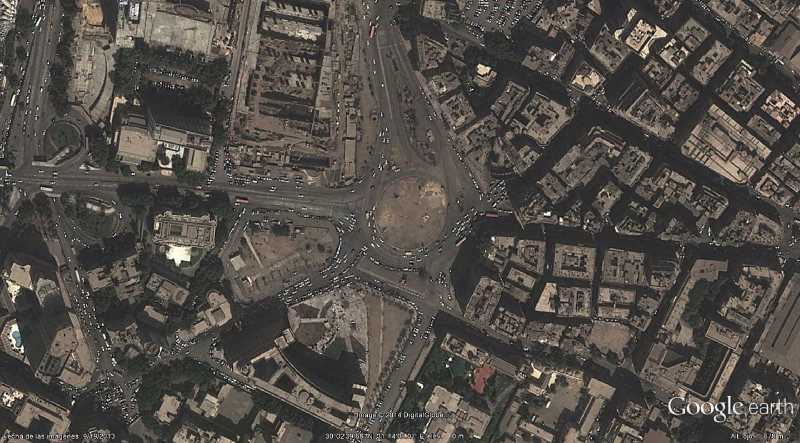 Plaza Tahrir. Fuente: Google Earth