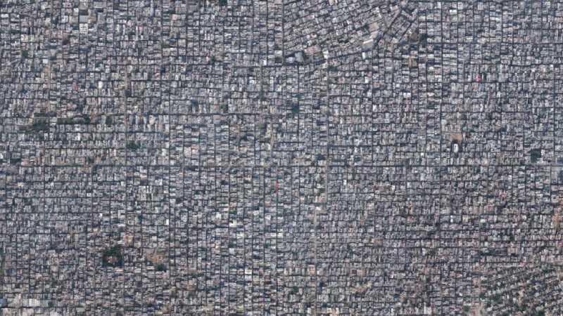Asentamiento de infravivienda en Nueva Delhi. Fuente:jotdown.es
