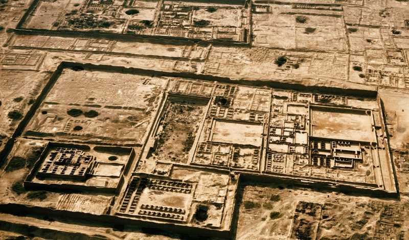 Imagen aérea de Chan Chan .Fuente: peruredes.com