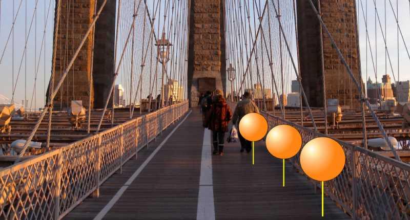 Space Mapper activo sobre el puente de Brooklyn de Nueva York. Fuente: csic.es