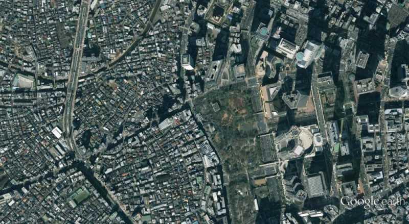 Ortofoto del centro de Tokio. Fuente: Google Earth
