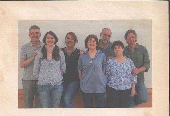 """Integrantes del equipo del Colegio Gómez Moreno. Fuente: """"Comedor ecológico…niñ@s felices"""""""