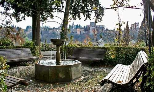Fountain and Alhambra Views