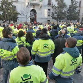 Huelga de los trabajadores de la limpieza en Granada