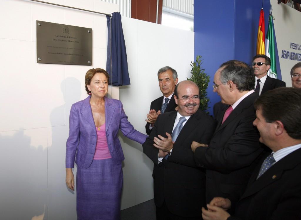 """INAGURACION DEL NUEVO AEROPUERTO DE JAEN EN GRANADA """"GARCIA LORCA"""".-19/6/06"""