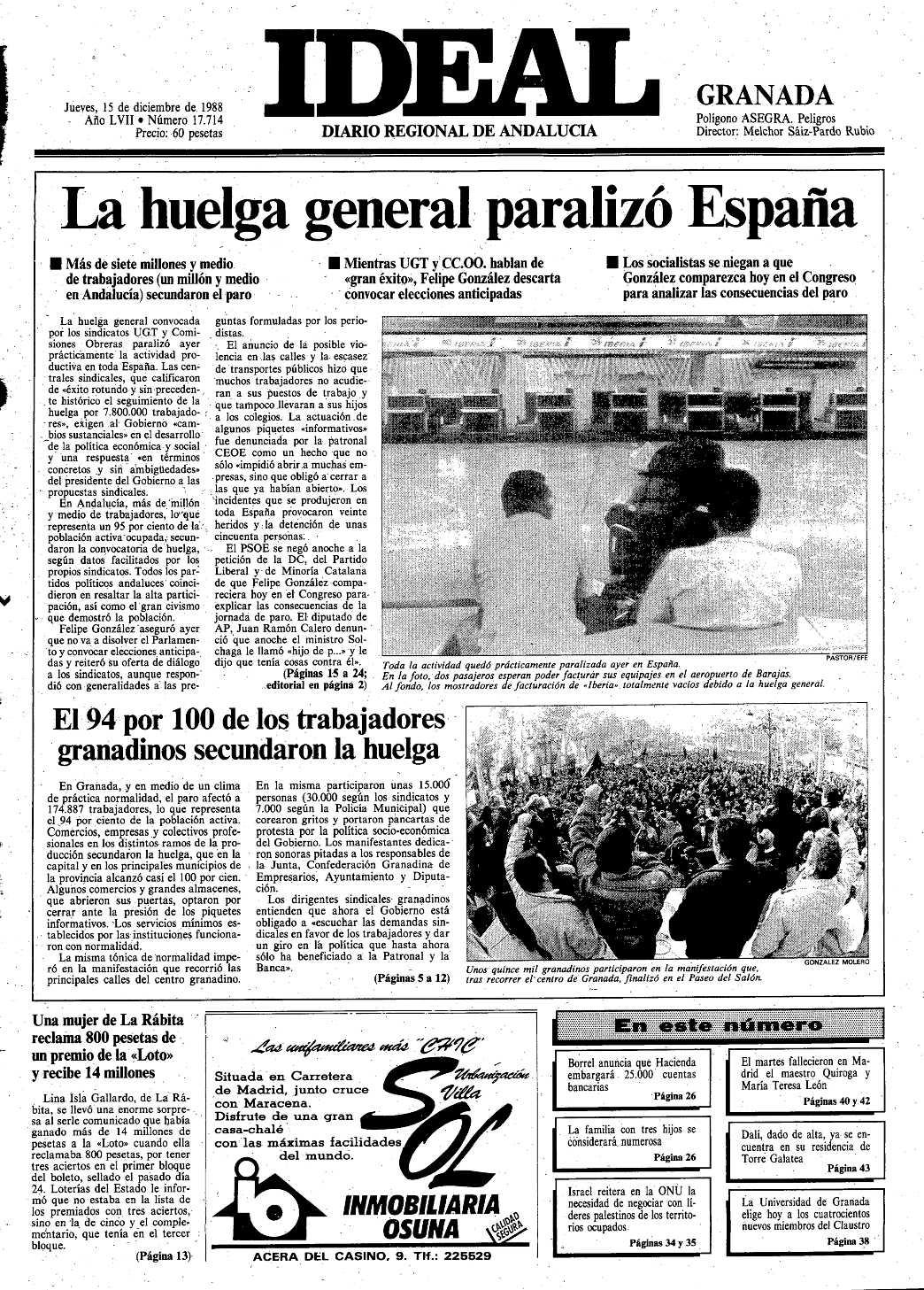 14 de diciembre de 1992: