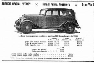 anuncio Ford, 1933