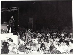 En un concierto en Loja. Agosto de 1991. González Molero/IDEAL