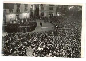 Altar de la VIrgen de Fátima en Puerta Real. 2 de octubre de 1949. Torres Molina/Archivo de IDEAL
