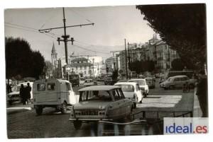 Tráfico en la Fuente de las Batallas en una imagen de septiembre de 1970. Torres Molina/Archivo de IDEAL