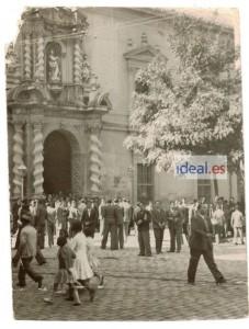 Plaza de la Universidad durante unos disturbios. Fecha desconocida. Foto Fernando Moral/Archivo de IDEAL