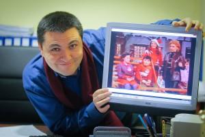 Jorge Iglesias en su despacho de su empresa Ventanas Icalo. Foto Ramón L. Pérez