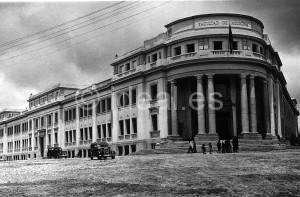 Vista de la Facultad en las fechas de su inauguración. Junio de 1944. TOrres Molina/IDEAL